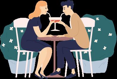 Caféer og restauranter